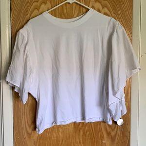 Flare sleeve T shirt